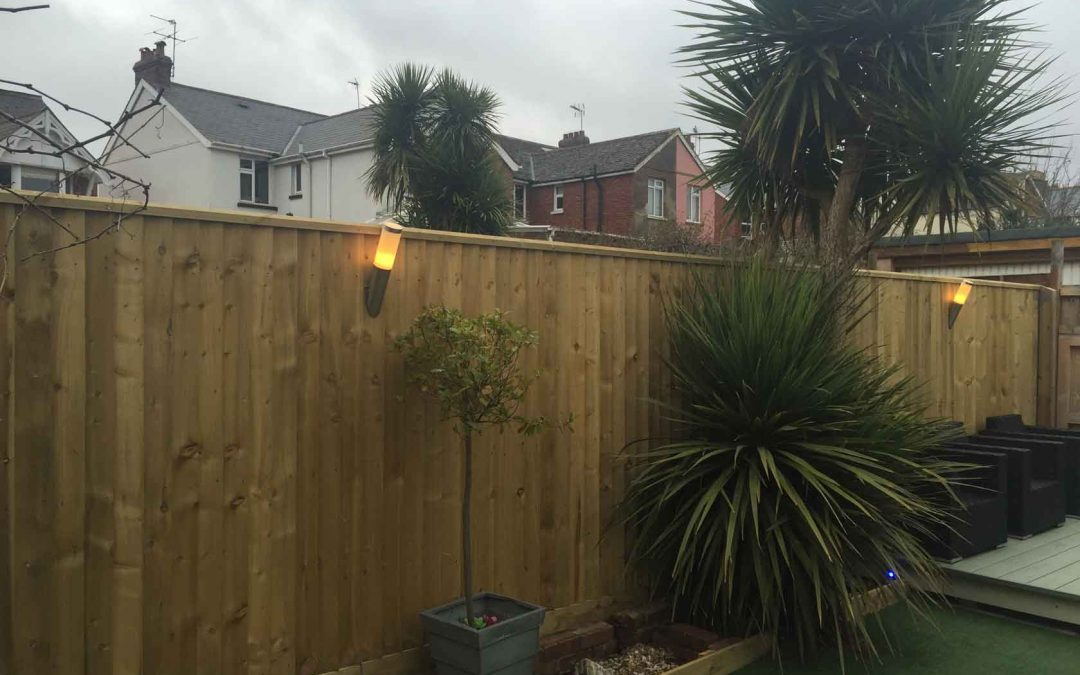 Exmouth fencing job