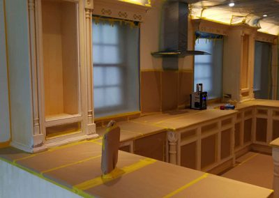 During-spraying-kitchen