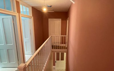 Re-plastered and Decorated Staircase